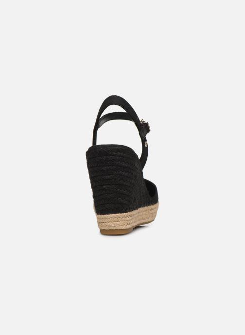 Sandaler Tommy Hilfiger BASIC CLOSED TOE HIGH WEDGE Sort Se fra højre