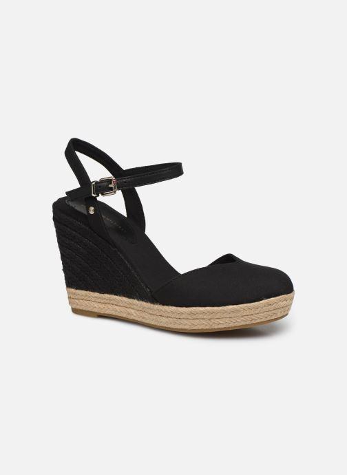 Sandaler Tommy Hilfiger BASIC CLOSED TOE HIGH WEDGE Sort detaljeret billede af skoene