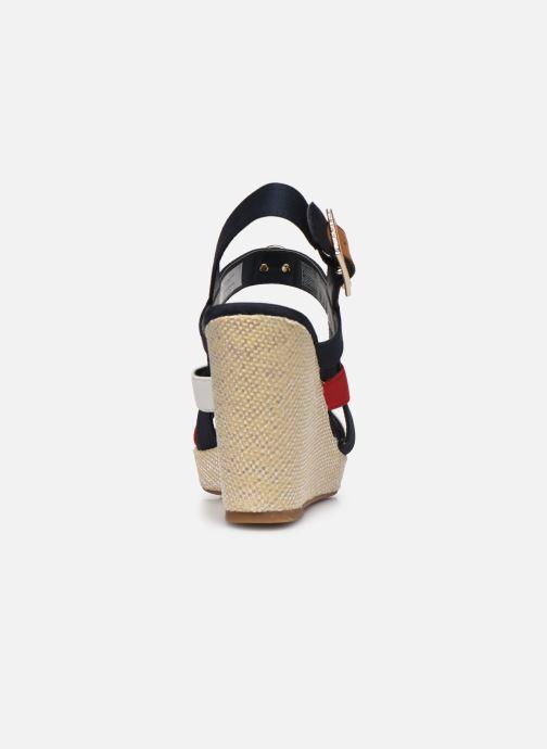 Sandales et nu-pieds Tommy Hilfiger BASIC HARDWARE HIGH WEDGE SANDAL Bleu vue droite