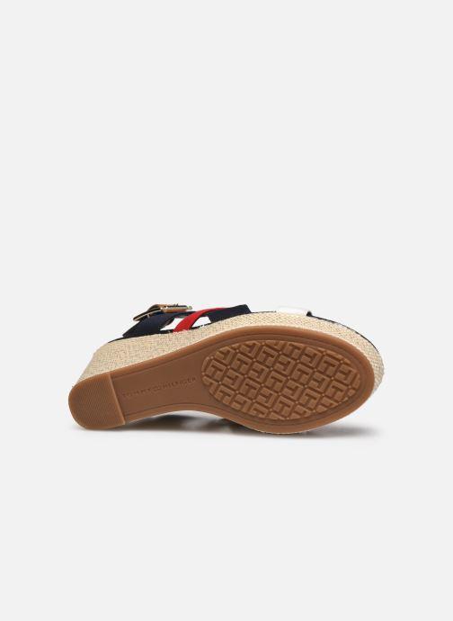 Sandales et nu-pieds Tommy Hilfiger BASIC HARDWARE HIGH WEDGE SANDAL Bleu vue haut