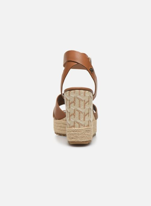 Sandali e scarpe aperte Tommy Hilfiger TH RAFFIA HIGH WEDGE SANDAL Marrone immagine destra