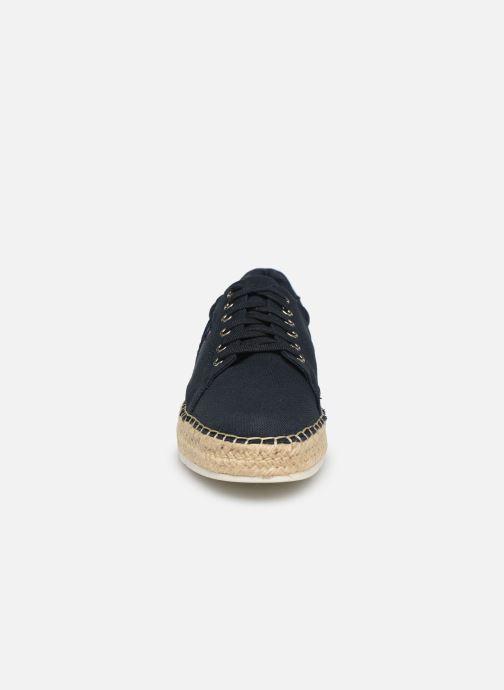 Baskets Tommy Hilfiger NAUTICAL TH LACE UP ESPADRILLE Bleu vue portées chaussures