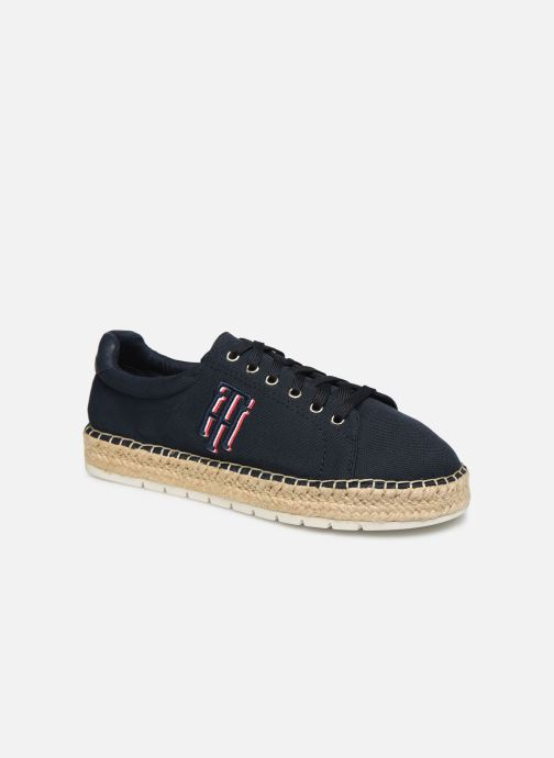Deportivas Tommy Hilfiger NAUTICAL TH LACE UP ESPADRILLE Azul vista de detalle / par