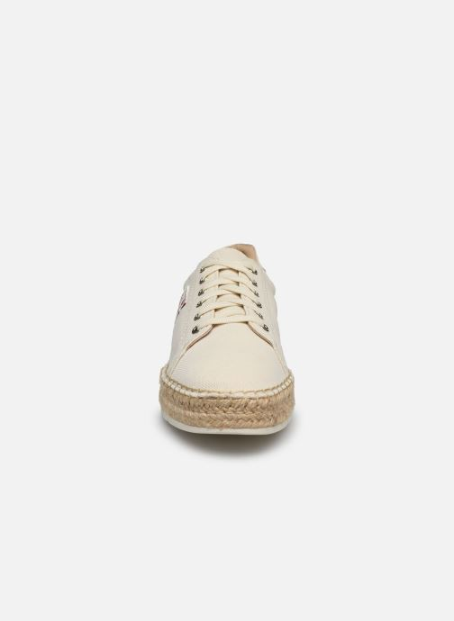 Deportivas Tommy Hilfiger NAUTICAL TH LACE UP ESPADRILLE Blanco vista del modelo