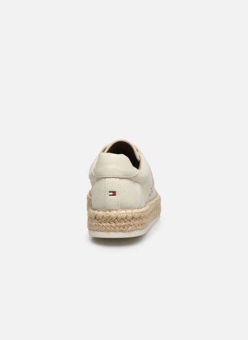 Deportivas Tommy Hilfiger NAUTICAL TH LACE UP ESPADRILLE Blanco vista lateral derecha