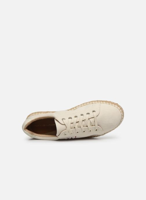 Deportivas Tommy Hilfiger NAUTICAL TH LACE UP ESPADRILLE Blanco vista lateral izquierda
