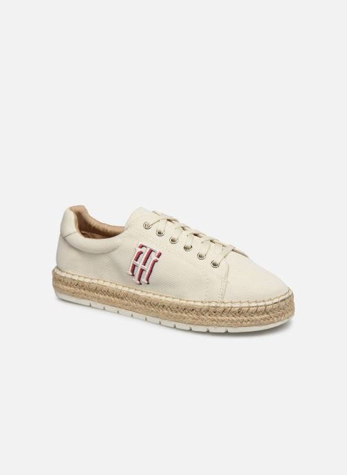 Deportivas Tommy Hilfiger NAUTICAL TH LACE UP ESPADRILLE Blanco vista de detalle / par