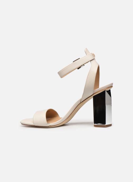 Sandali e scarpe aperte Michael Michael Kors PETRA ANKLE STRAP Bianco immagine frontale