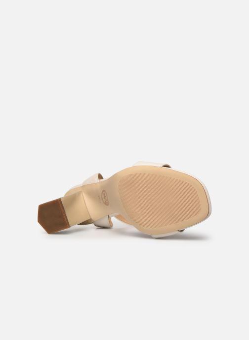 Sandali e scarpe aperte Michael Michael Kors PETRA ANKLE STRAP Bianco immagine dall'alto