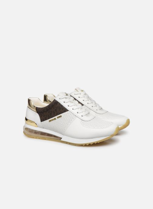 Trainers Michael Michael Kors ALLIE TRAINER EXTREME White 3/4 view