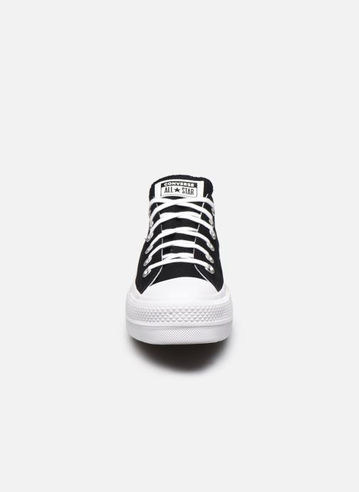 Baskets Converse Chuck Taylor All Star Lift Love Fearlessly Ox Noir vue portées chaussures