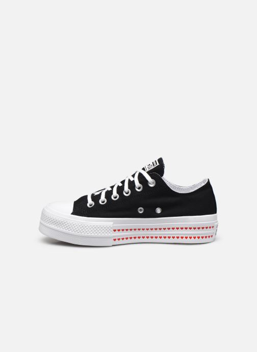 Sneakers Converse Chuck Taylor All Star Lift Love Fearlessly Ox Nero immagine frontale
