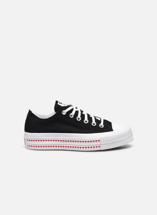 Baskets Converse Chuck Taylor All Star Lift Love Fearlessly Ox Noir vue derrière