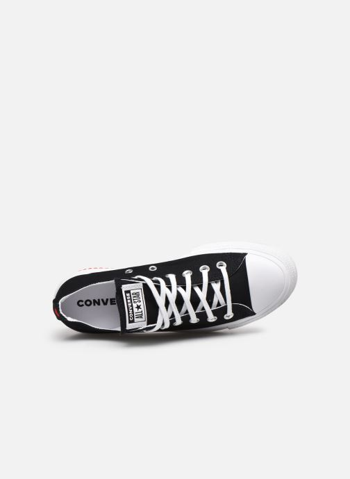 Sneakers Converse Chuck Taylor All Star Lift Love Fearlessly Ox Nero immagine sinistra
