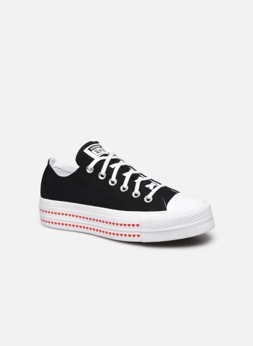 Baskets Converse Chuck Taylor All Star Lift Love Fearlessly Ox Noir vue détail/paire
