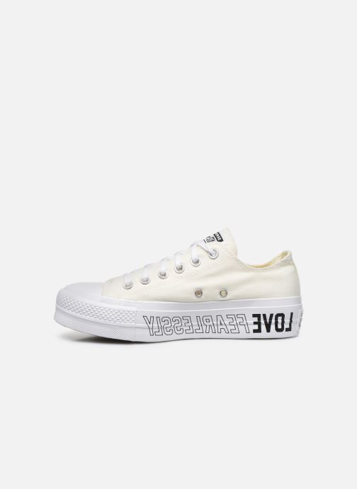 Baskets Converse Chuck Taylor All Star Lift Love Fearlessly Ox Blanc vue face