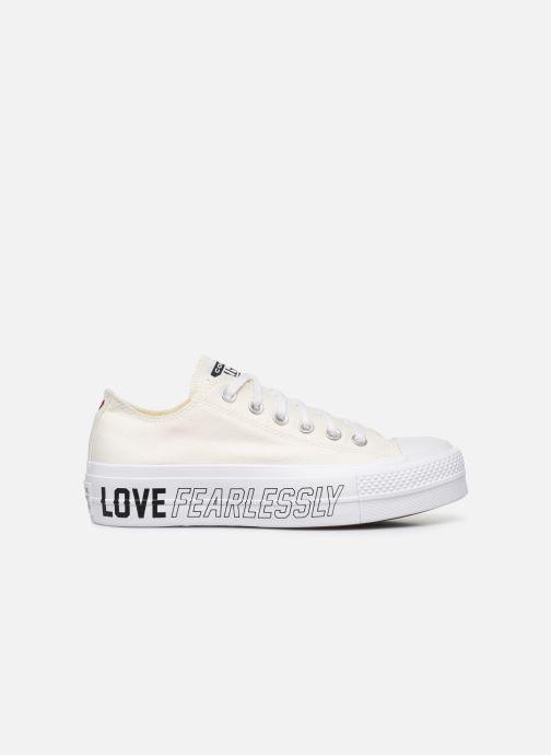 Baskets Converse Chuck Taylor All Star Lift Love Fearlessly Ox Blanc vue derrière