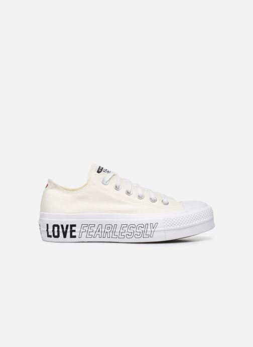Sneakers Converse Chuck Taylor All Star Lift Love Fearlessly Ox Wit achterkant