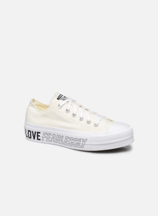 Baskets Converse Chuck Taylor All Star Lift Love Fearlessly Ox Blanc vue détail/paire