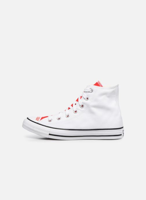Sneakers Converse Chuck Taylor All Star Love Fearlessly Hi Rosso immagine frontale