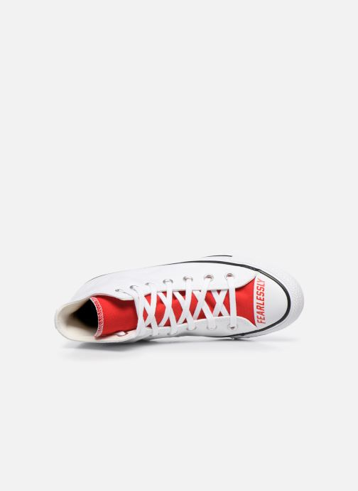 Sneakers Converse Chuck Taylor All Star Love Fearlessly Hi Rosso immagine sinistra