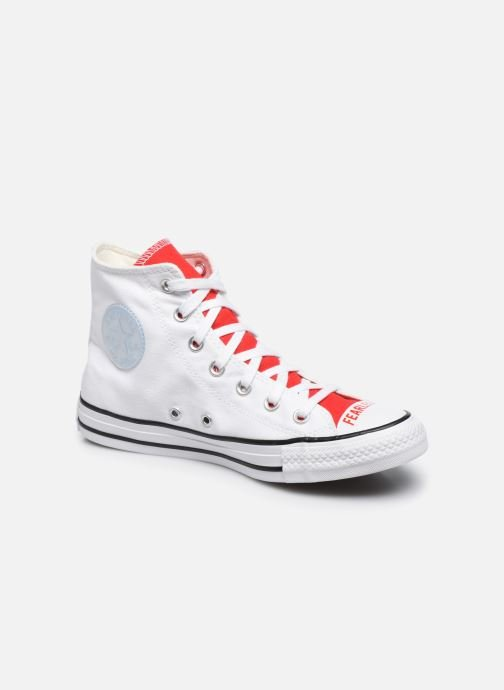 Baskets Converse Chuck Taylor All Star Love Fearlessly Hi Rouge vue détail/paire