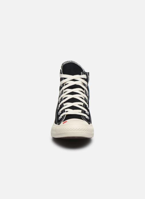 Baskets Converse Chuck Taylor All Star Love Fearlessly Hi Noir vue portées chaussures