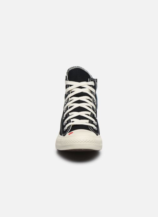 Baskets Converse Chuck Taylor All Star Love Fearlessly Hi Noir vue portées chaussures