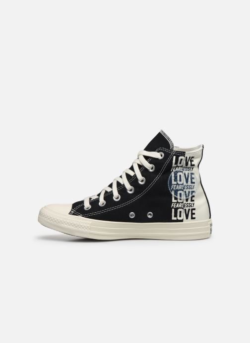 Baskets Converse Chuck Taylor All Star Love Fearlessly Hi Noir vue face