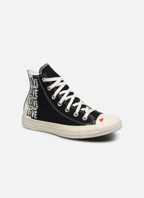 Baskets Converse Chuck Taylor All Star Love Fearlessly Hi Noir vue détail/paire