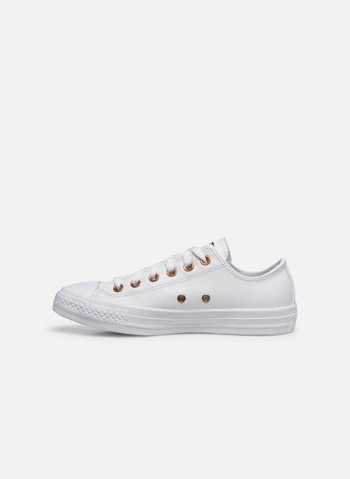 Sneaker Converse Chuck Taylor All Star Craft Leather Ox weiß ansicht von vorne