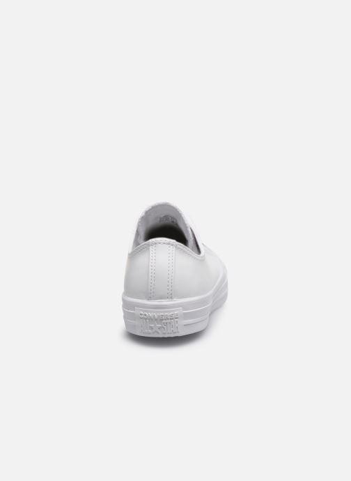 Sneaker Converse Chuck Taylor All Star Craft Leather Ox weiß ansicht von rechts