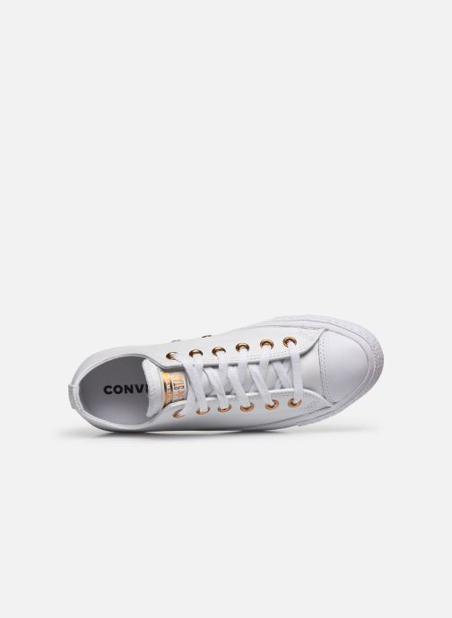 Sneaker Converse Chuck Taylor All Star Craft Leather Ox weiß ansicht von links