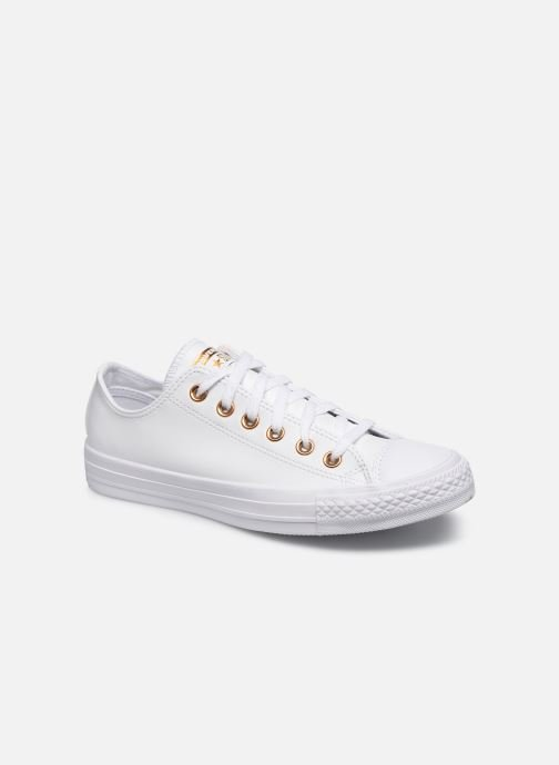 Baskets Converse Chuck Taylor All Star Craft Leather Ox Blanc vue détail/paire