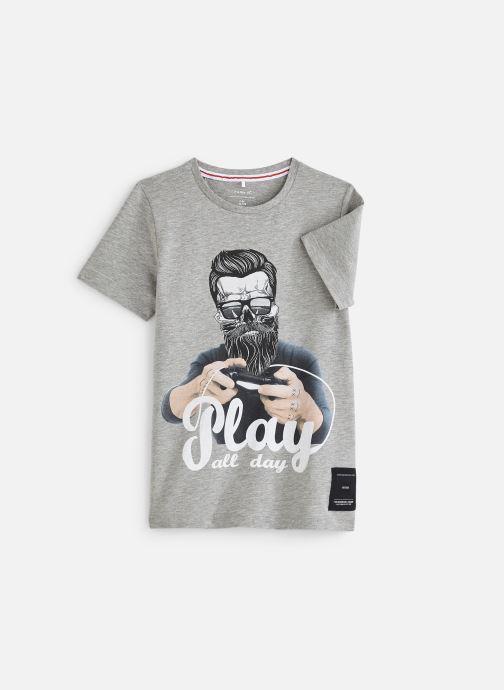 Vêtements Name it Nkmbaxter Ss Top Gris vue détail/paire