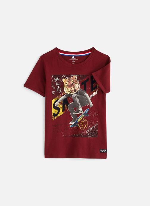 Vêtements Name it Nkmtbrave Ss Top Rouge vue détail/paire