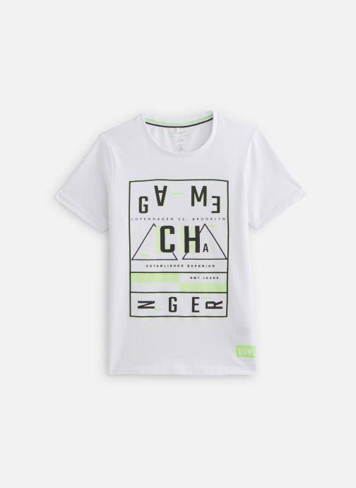 Vêtements Name it Nkmbarney Ss Top Box Blanc vue détail/paire