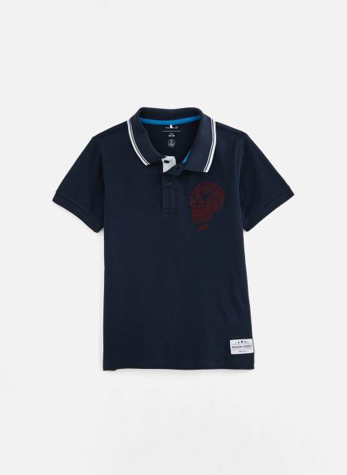 Vêtements Name it Nkmtoslila Ss Polo Bleu vue détail/paire