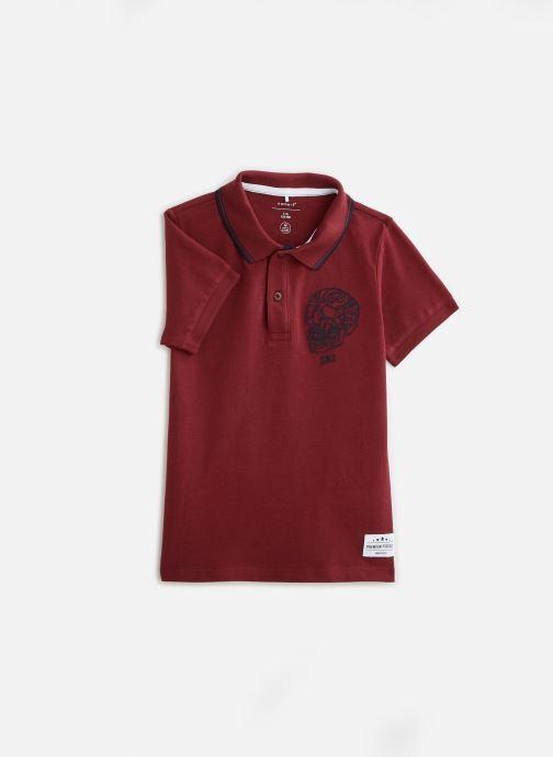 Vêtements Name it Nkmtoslila Ss Polo Rouge vue détail/paire