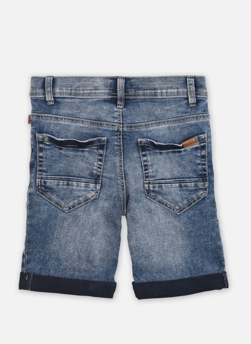 Vêtements Name it Nkmsofus Dnmcartus 2317 Long Shorts Camp Bleu vue portées chaussures