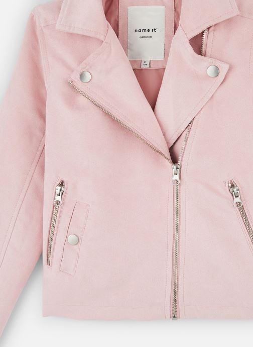 Vêtements Name it Nkfmellen Jacket Rose vue portées chaussures