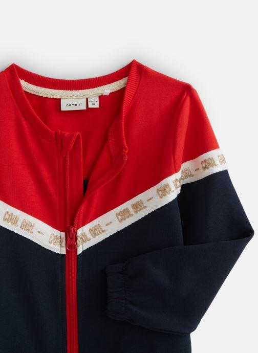 Vêtements Name it Nmfbosynne Sweat Card Unb Rouge vue portées chaussures