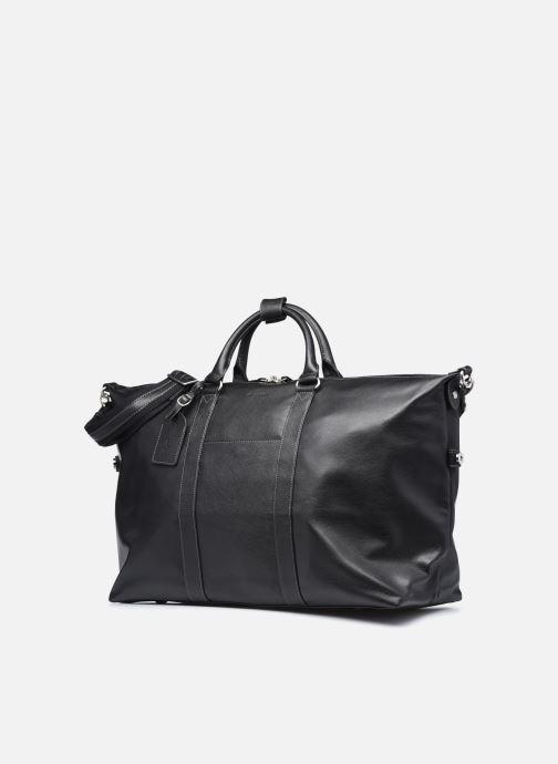 Reisegepäck Hexagona LEATHER SAC WEEK END schwarz schuhe getragen