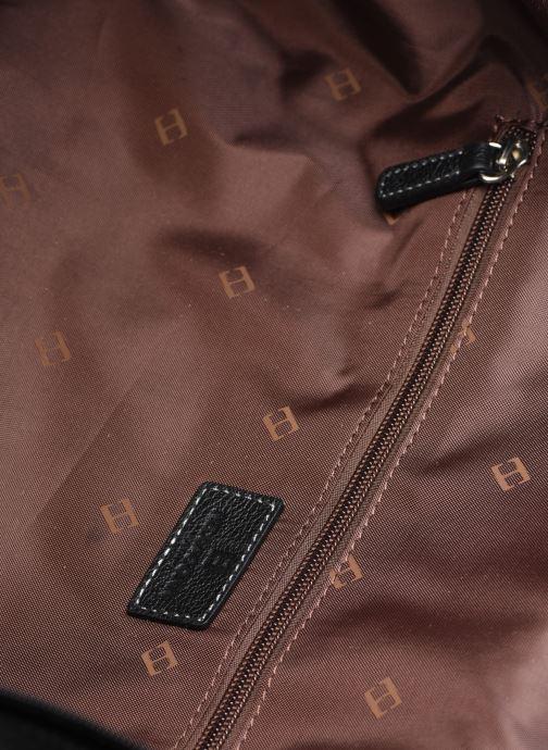 Reisegepäck Hexagona LEATHER SAC WEEK END schwarz ansicht von hinten