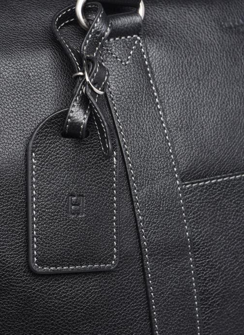Reisegepäck Hexagona LEATHER SAC WEEK END schwarz ansicht von links