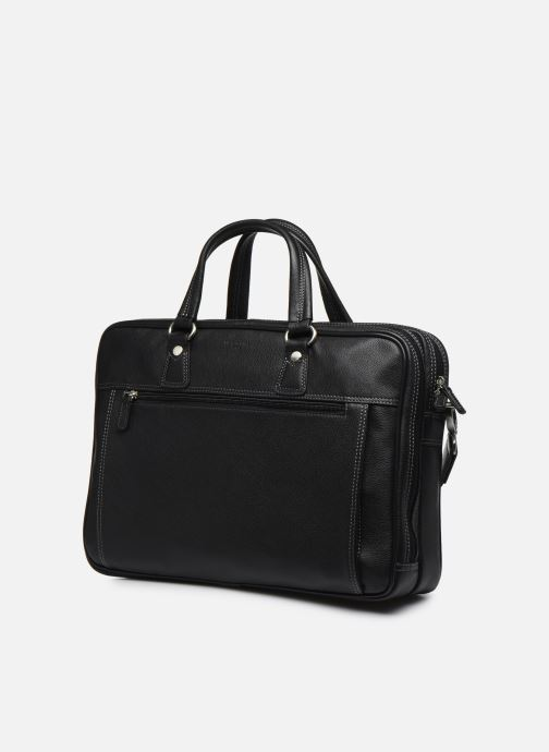 Laptop cases Hexagona LEATHER PORTE ORDINATEUR Black model view