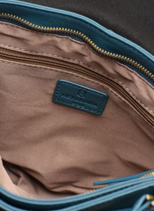 Men's bags Hexagona LEATHER CROSS BODY Blue back view