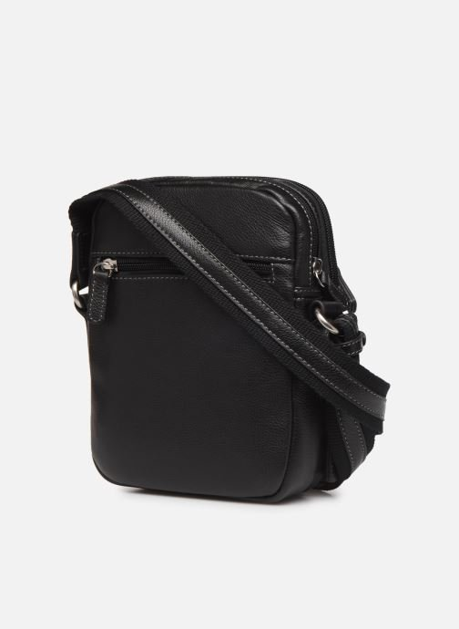Men's bags Hexagona LEATHER CROSS BODY Black view from the right