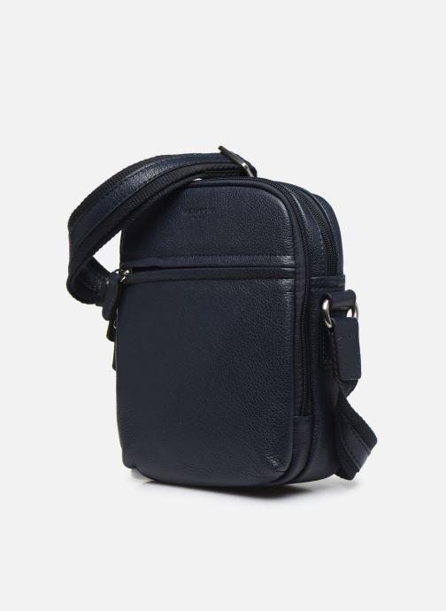 Men's bags Hexagona LEATHER CROSS BODY Blue model view
