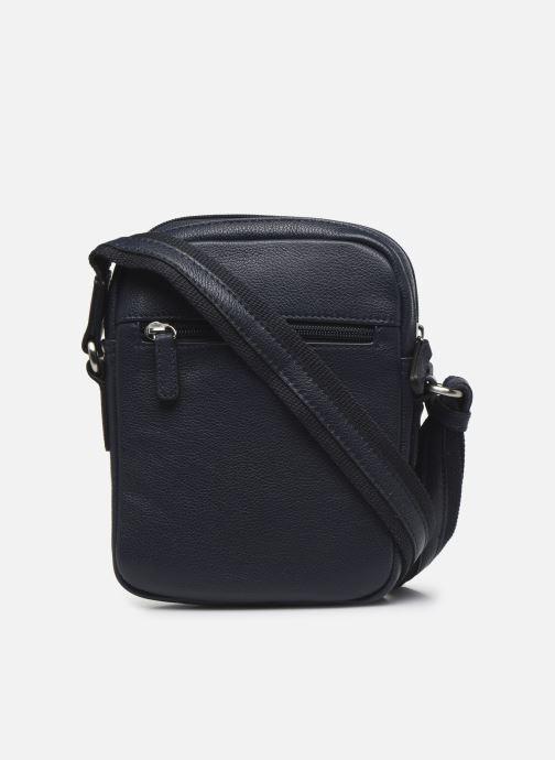 Men's bags Hexagona LEATHER CROSS BODY Blue front view
